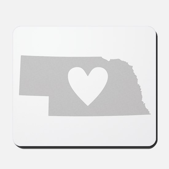 Heart Nebraska Mousepad