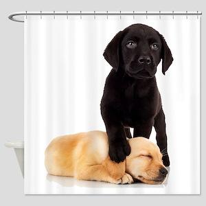 Labrador Playmates Shower Curtain