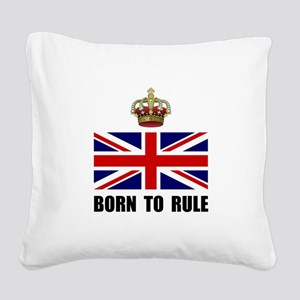 Royal Crown Rule Square Canvas Pillow
