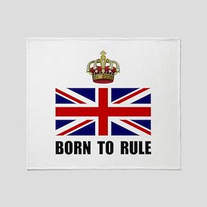 Royal Crown Rule Throw Blanket