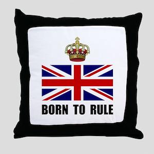Royal Crown Rule Throw Pillow