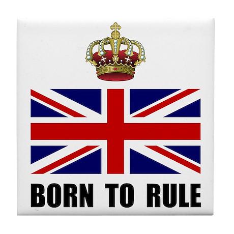 Royal Crown Rule Tile Coaster