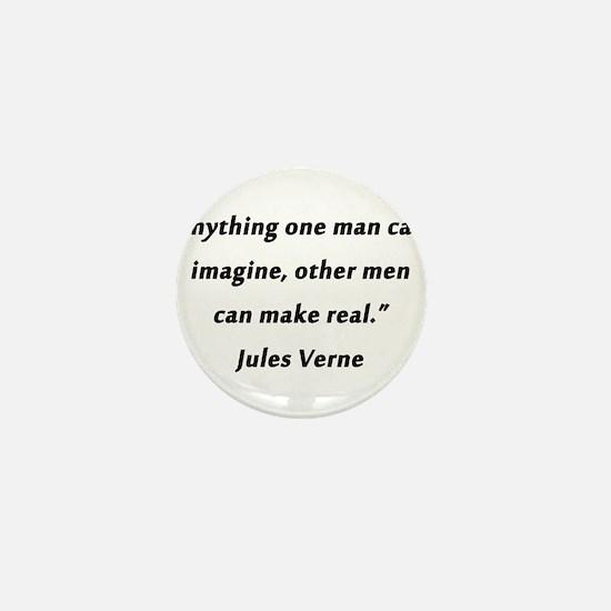 Verne On Imagination Mini Button
