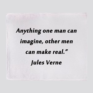 Verne On Imagination Throw Blanket