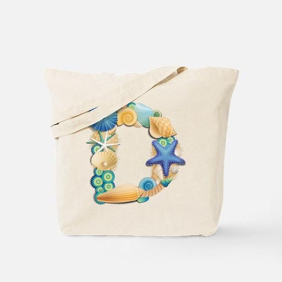 BEACH THEME INITIAL D Tote Bag