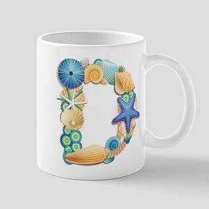 BEACH THEME INITIAL D Mug
