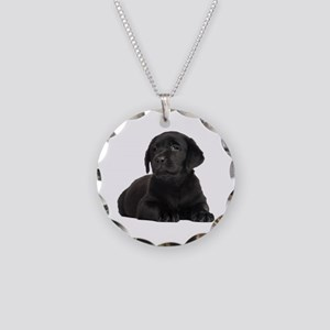 Labrador Retriever Necklace Circle Charm
