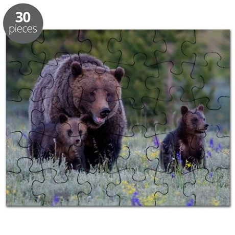MAMMA GRIZZLY and CUBS Puzzle