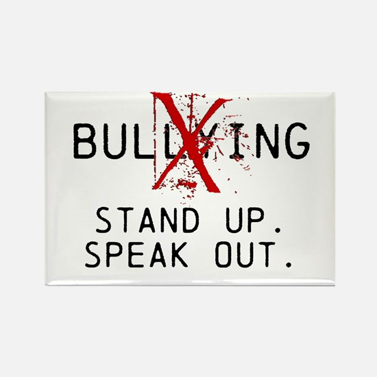 No Bullying - Stand up. Speak out. Rectangle Magne