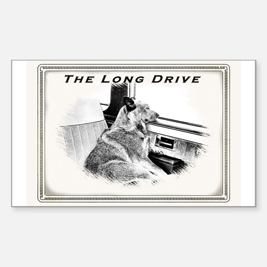 Long Drive Rectangle Decal