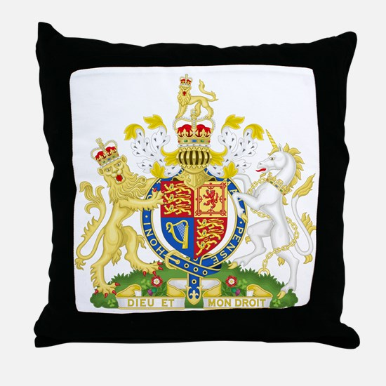 Royal Coat of Arms Throw Pillow