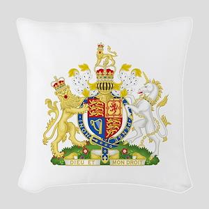 Royal Coat of Arms Woven Throw Pillow