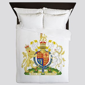 Royal Coat of Arms Queen Duvet