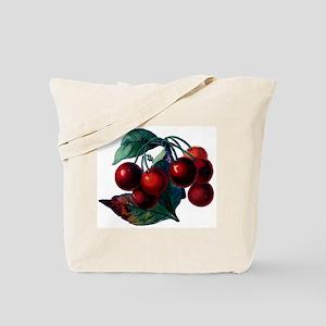 Vintage Cherry Big Red Juicy Cherries Fruit Tote B