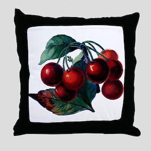 Vintage Cherry Big Red Juicy Cherries Fruit Throw