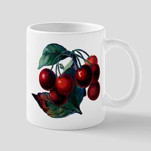 Vintage Cherry Big Red Juicy Cherries Fruit Mug