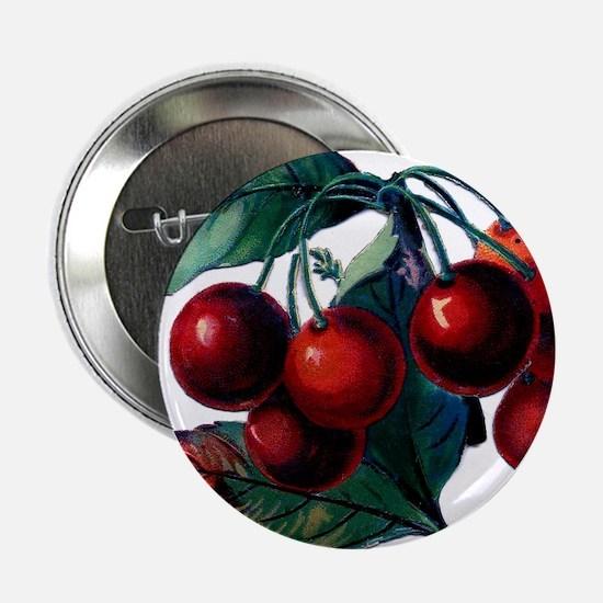 """Vintage Cherry Big Red Juicy Cherries Fruit 2.25"""""""