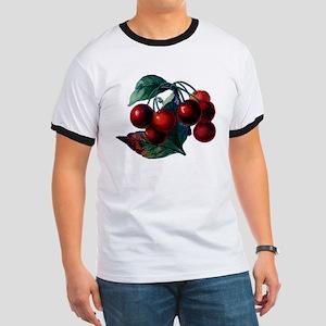 Vintage Cherry Big Red Juicy Cherries Fruit T-Shir