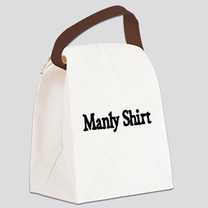 MANLY SHIRT Canvas Lunch Bag