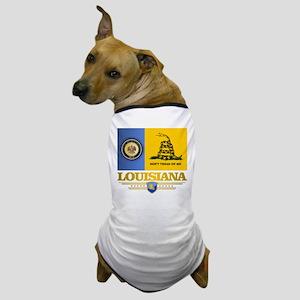 Louisiana Gadsden Flag Dog T-Shirt