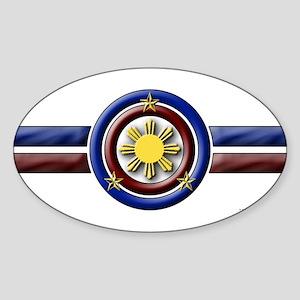 Philippine Shield - Oval Sticker