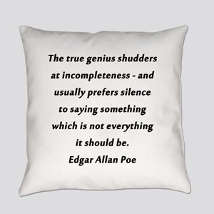 Poe On True Genius Everyday Pillow