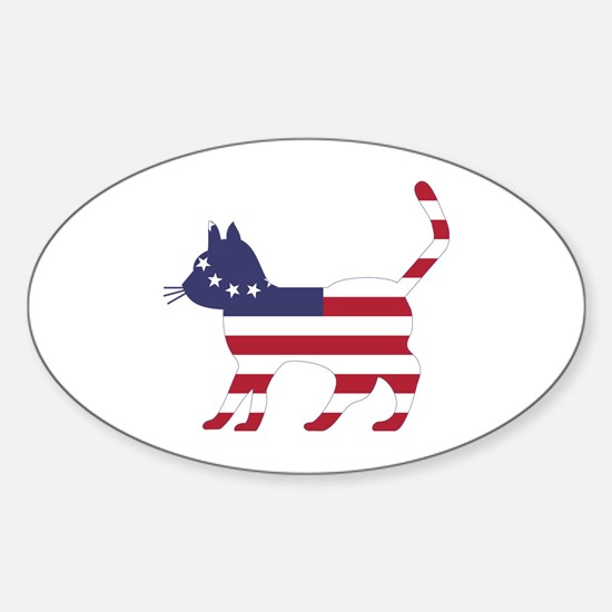 Betsy Ross Flag Cat Icon Decal