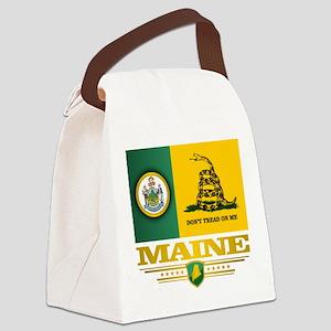 Maine Gadsden Flag Canvas Lunch Bag