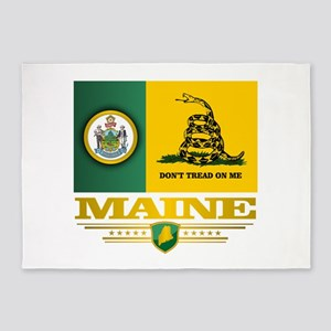 Maine Gadsden Flag 5'x7'Area Rug