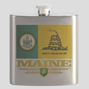Maine Gadsden Flag Flask