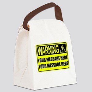 Personalize It, Warning Sign Canvas Lunch Bag