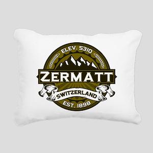 Zermatt Logo Olive Rectangular Canvas Pillow
