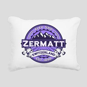 Zermatt Logo Violet Rectangular Canvas Pillow