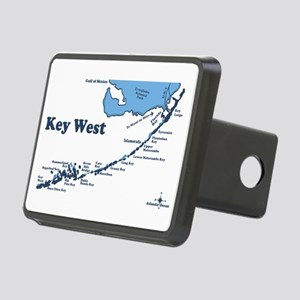 Key West - Map Design. Rectangular Hitch Cover