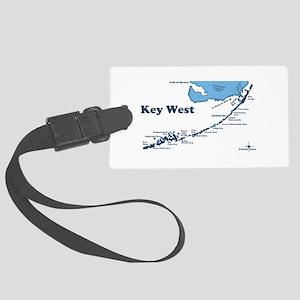 Key West - Map Design. Large Luggage Tag