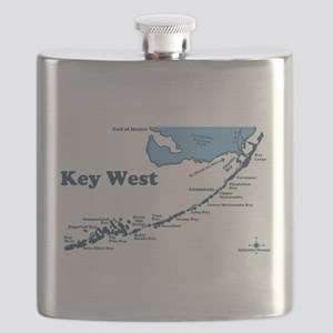 Key West - Map Design. Flask