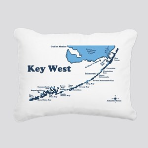 Key West - Map Design. Rectangular Canvas Pillow