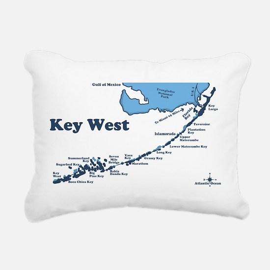 Key West - Map Design. Rectangular Canvas Pillow