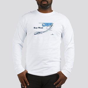 Key West - Map Design. Long Sleeve T-Shirt