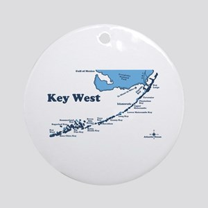Key West - Map Design. Ornament (Round)