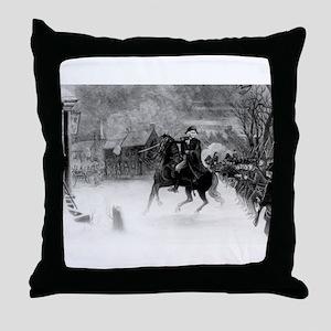 washington at trenton Throw Pillow