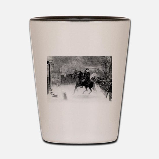 washington at trenton Shot Glass