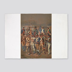 continental army 5'x7'Area Rug
