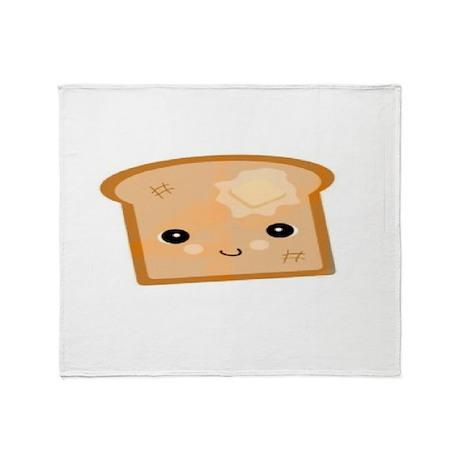 Kawaii Toast Throw Blanket By Electrofries Magnificent Kawaii Throw Blanket