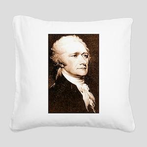 alexander hamilton Square Canvas Pillow