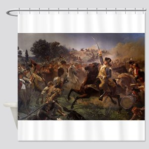 washington at monmouth Shower Curtain