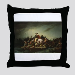 washington at delaware Throw Pillow