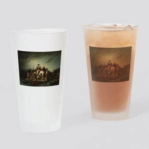 washington at delaware Drinking Glass