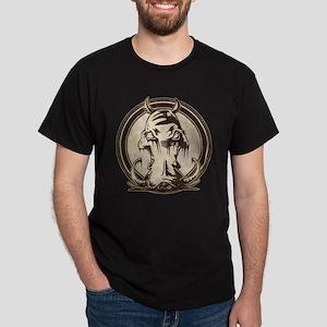 Distressed Wild Boar Stamp Dark T-Shirt