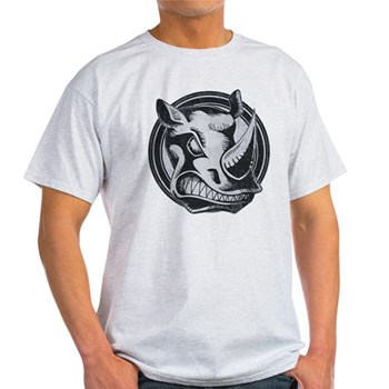 Distressed Wild Rhino Stamp Light T-Shirt